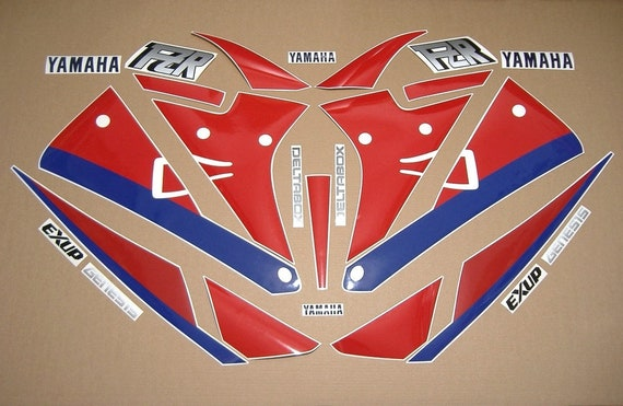 Yamaha Fzr 1000 Exup 1990 Decals Stickers Set Kit Replacement Replica Restoration Graphics Reproduction Aufkleber Adesivi Adhesives Labels