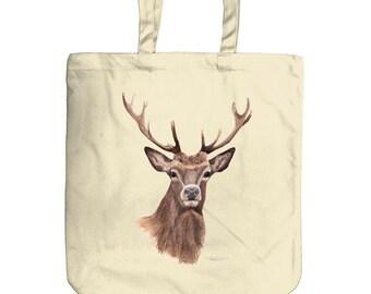 Stag Image Mini Reusable Shopping Bag 26 x 32.5cm Wild Animal