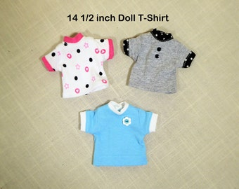 14 12 Wellie T-shirt and Print Legging setWisher trendy casual outfit14 inch doll tee shirtwisher clothes separatesBlack Gray TeeSale