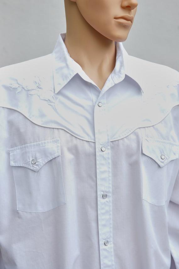 Vintage Embroidered Western Snap Shirt, Medium, XX