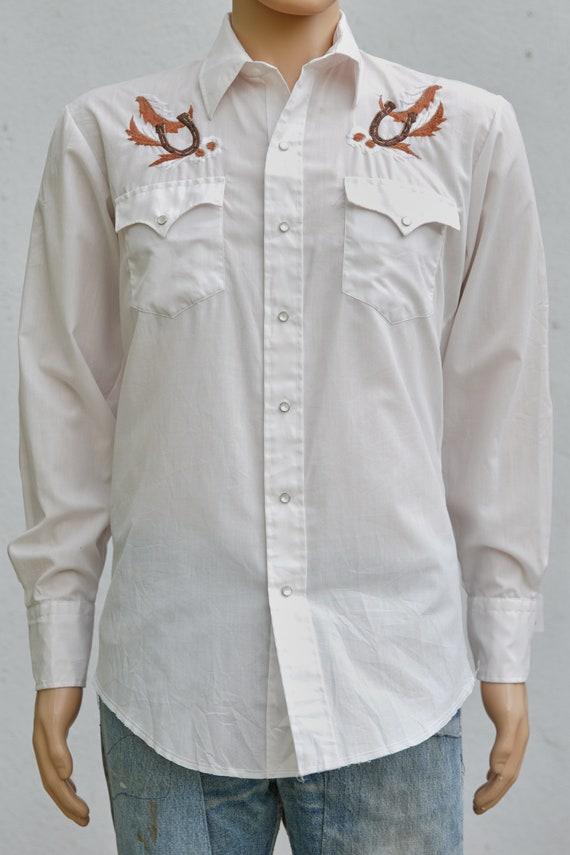 Vintage Embroidered Western Snap Shirt
