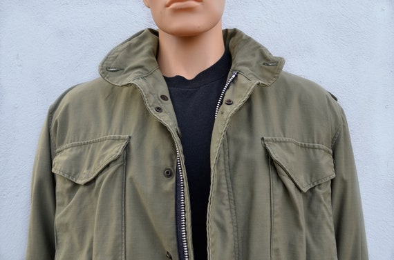 Men's Vintage Army Field Jacket, Large