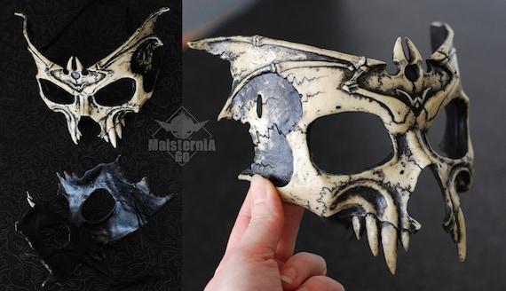 Gothic vampire skull mask ivory