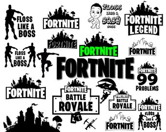 Bundle Fortnite Svg Files For Cricut Silhouette Svg Cut Files Svg Eps Png Cricut Cut File Printable Artwork Vector Logo Clipart