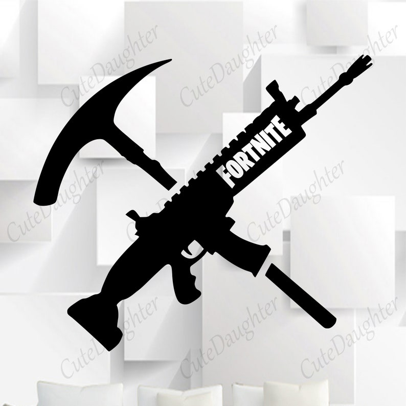 Fortnite Gun svg, Fortnite Pickaxe Svg files for Cricut Silhouette, svg cut  files, svg eps png Cricut cut file, Printable artwork, clipart