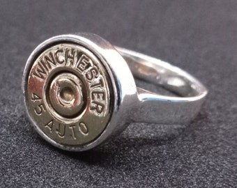 45 ACP Bullet Ring, size 9