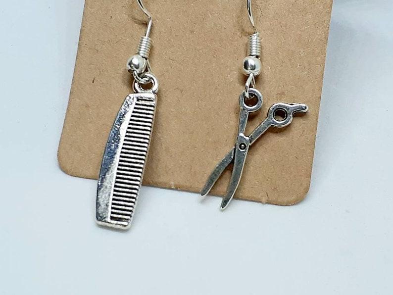 EarringsPendant earringsScissor earringsHairdresser giftStylist giftHairdresserComb earringsHairdresser earringsHairdresser jewelry