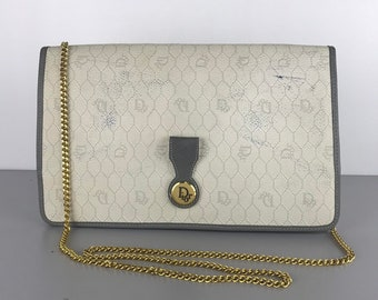 Authentic Vintage Christian Dior Trotter Clutch Crossbody Chain Bag 588193b9c6e85
