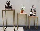 Vintage Hand Crafted Nesting Tables Set of 3
