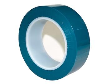 "1"" - 1/2"" Blue High Temp Masking Tape Powder Coating Painting Sublimation, Polyester Silicon"