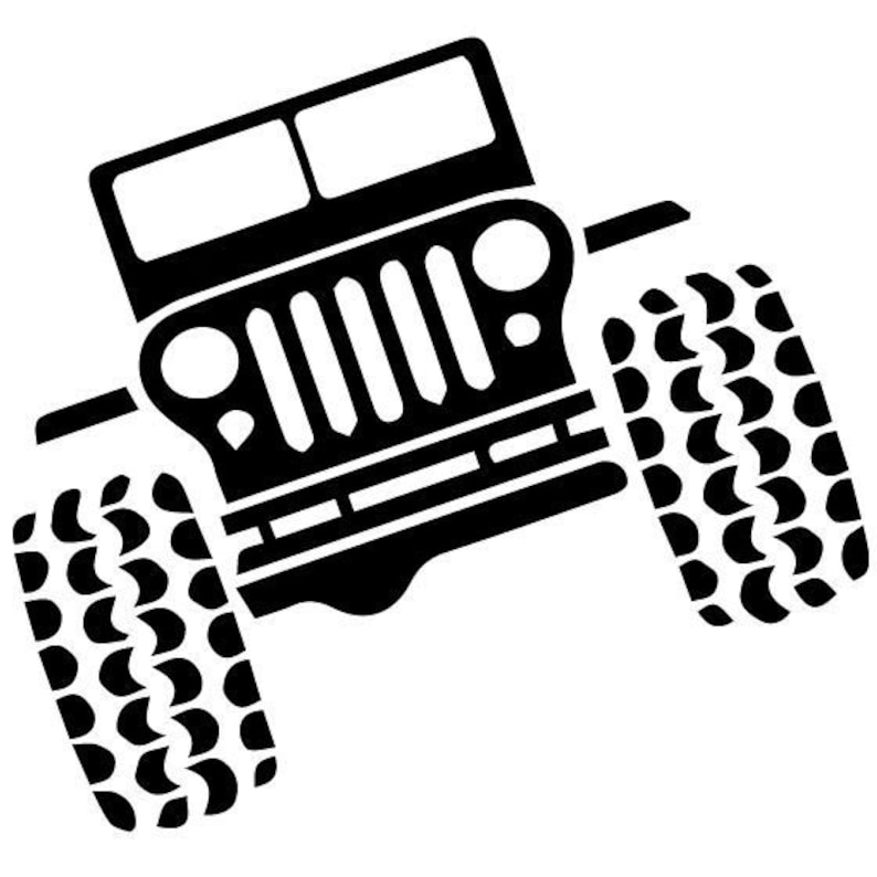 Jeep Rock Crawling Clip Art