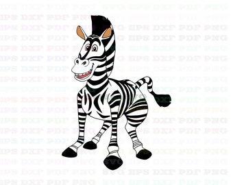 7d2730d658613 Marty Zebra Madagascar Svg Dxf Eps Pdf Png