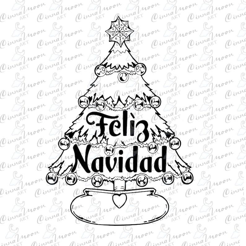 Feliz Navidad svg-Merry Xmas svg-t-shirt-mexican xmas mug svg-Christmas tree svg-navidad svg-Vector Files-Silhouette-Cricut-Commercial use