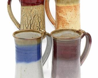 Large Mug, 18 Oz, Handmade Pottery, Beer Mug, Large Coffee Mug, Eco Friendly, Stoneware Mug, Ceramic Pottery, Christmas Gift, Pottery Mug