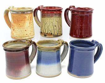 14 Ounce Mug, Handmade Pottery Mug, Stoneware Mug, Ceramic Mug, Coffee Mug, Tea Mug, Gift Dad, Large Mug, Modern Farmhouse, Christmas Gift