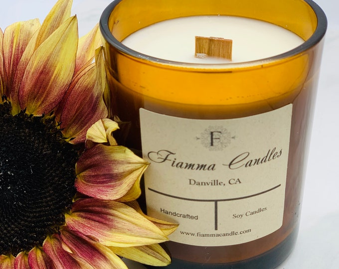 Luxury Candle: Nova, Amber Glass 7.5oz