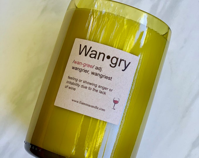 Wine Candle: Wan-gry (recycled)