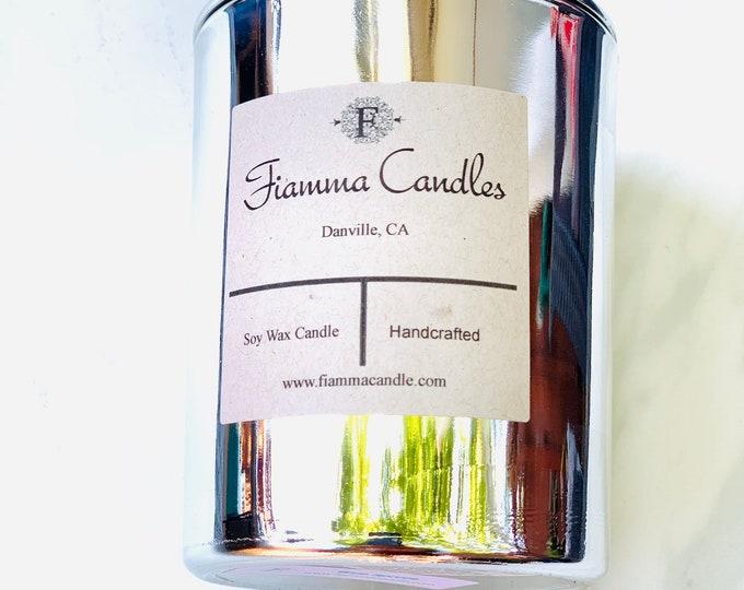 Luxury Candle: Nova, Silver Glass 7.5oz