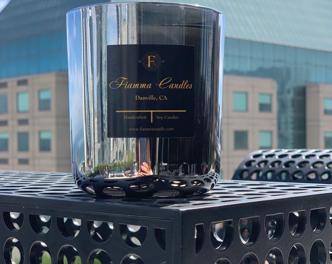 Luxury Candle: Lux, Gunmetal Glass 13oz.