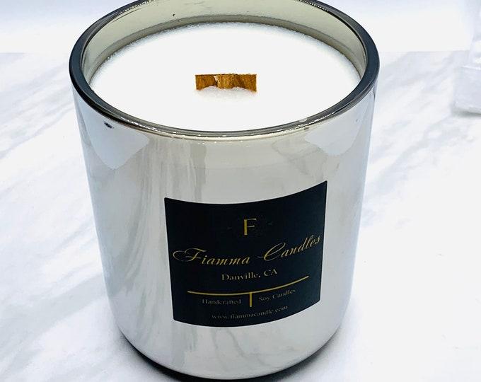 Luxury Candle: Lux, Gunmetal Glass 13oz.