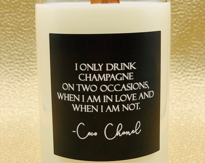 Trendy champagne candle 16oz (recycled)