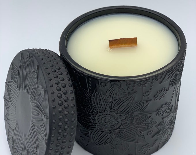 Luxury Candle: Ziva, Matte Black Glass 9.8oz