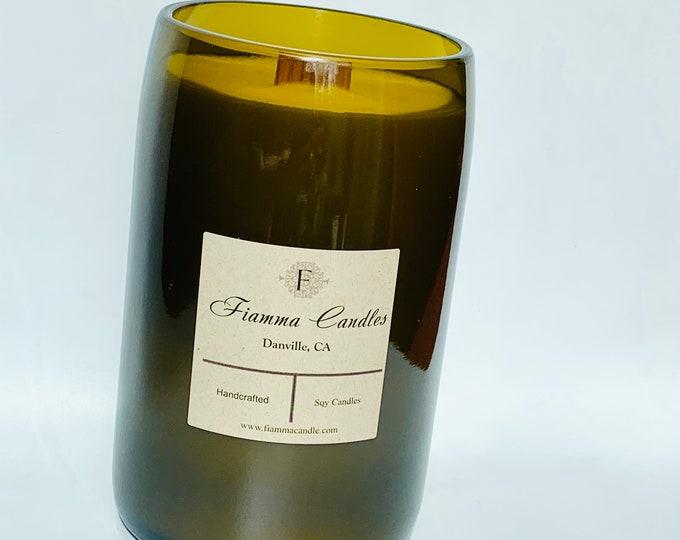 Wine candle - upcycled