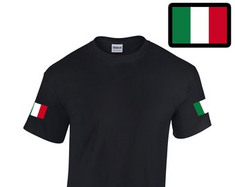 TYBroos I Love Italy Flag Girls Short Sleeve Ruffles Shirt T-Shirt