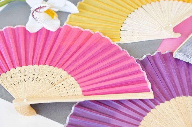 Wedding Silk Fans Hand Fan Favors Chinese Folding Fans 5 Silk Hand Fan