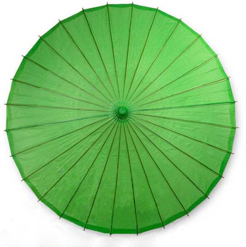 32 Spring Green Wedding Parasol Paper Umbrella Sun Umbrellas Special SALE of the Month