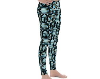 081847622e62c Atomic Retro Blue Men's Leggings XS-3XL