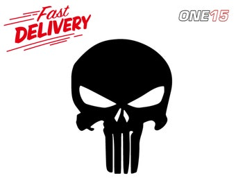 The Punisher Logo Vinyl Painting Stencil Size Pack For Shoes And Small Objects High Quality
