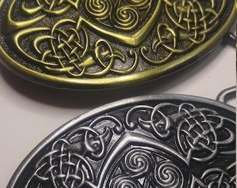 Celtic Oval Viking Triskelion Belt Buckle