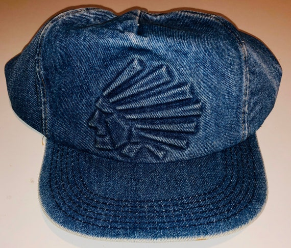 Vintage Chief Indian Denim SnapBack Hat