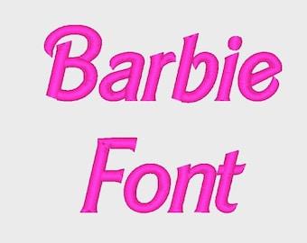barbie schriftzug