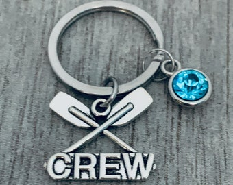 gift for rower rowing keychain hand stamped aluminum keychain rowing theme keychain metal keychain with rowing quote sports keychain