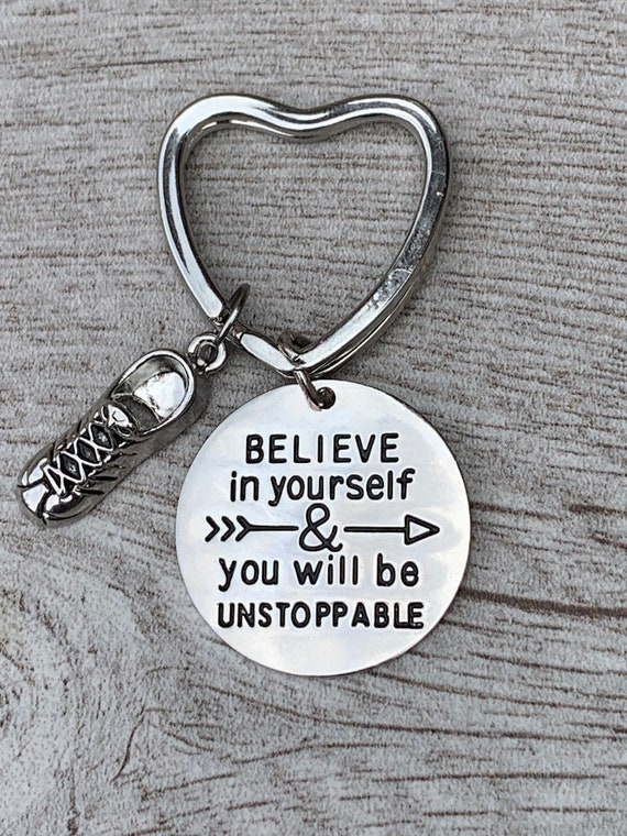 Sportybella Volleyball Keychain Girls Believe in Yourself /& You Will Be Unstoppable Volleyball Jewelry Perfect Volleyball Gifts for Volleyball Players