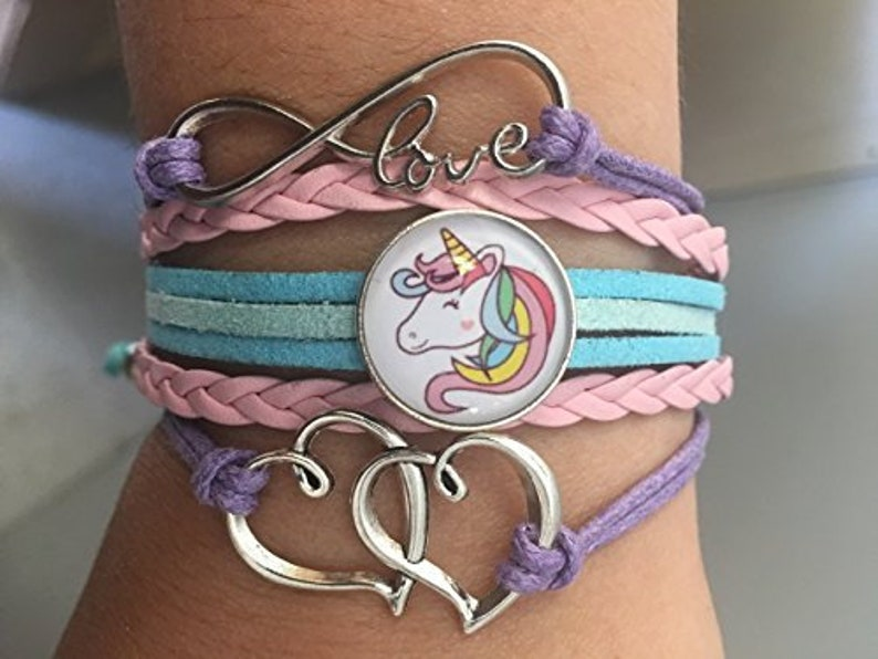 Girls Unicorn Bracelet Unicorn Jewelry Unicorn Gift image 0