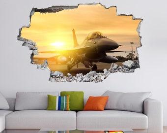 Jet Aircraft Military Wall Sticker Mural Decal Poster Print Art Kids Bedroom Home Decor EK21