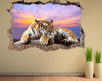 Love Tiger Wall Decal Tiger Head Heart Sunglasses Wall Sticker Tiger King Carole