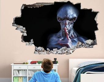 Details about  /Alien Aliens Face Hugger Egg E Huge Sticker Wall Art Poster Bedroom Living Decal