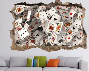 Highest Quality Wall Decal Stickers Details about  /Poker
