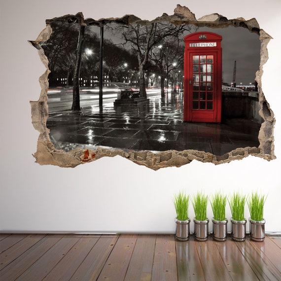 Great British Telephone Box Wall Art Vinyl Stickers Decals London Retro Decals