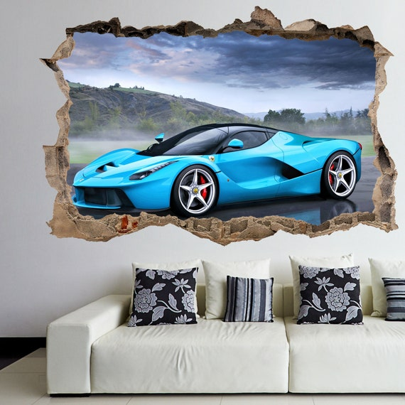 Roller Coaster ride 3D Wall Art Autocollant Mural Poster Kids Room Home Decor FM14