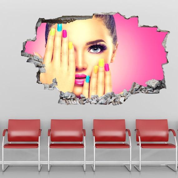 Makeup Model Nail Polish Manicure Beauty Salon Wall Decal Sticker Mural  Poster Print Art Decor GP18