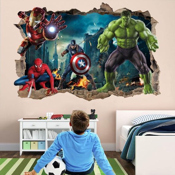 Large Avengers High Photograph Print Quality Colour Cut Vinyl Wall Art Stickers