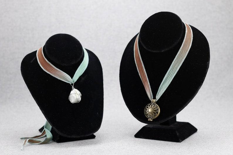 silk wrap Azure Like Truffles silk ribbon,hand-dyed crinkled silk ribbon jewelry making supply
