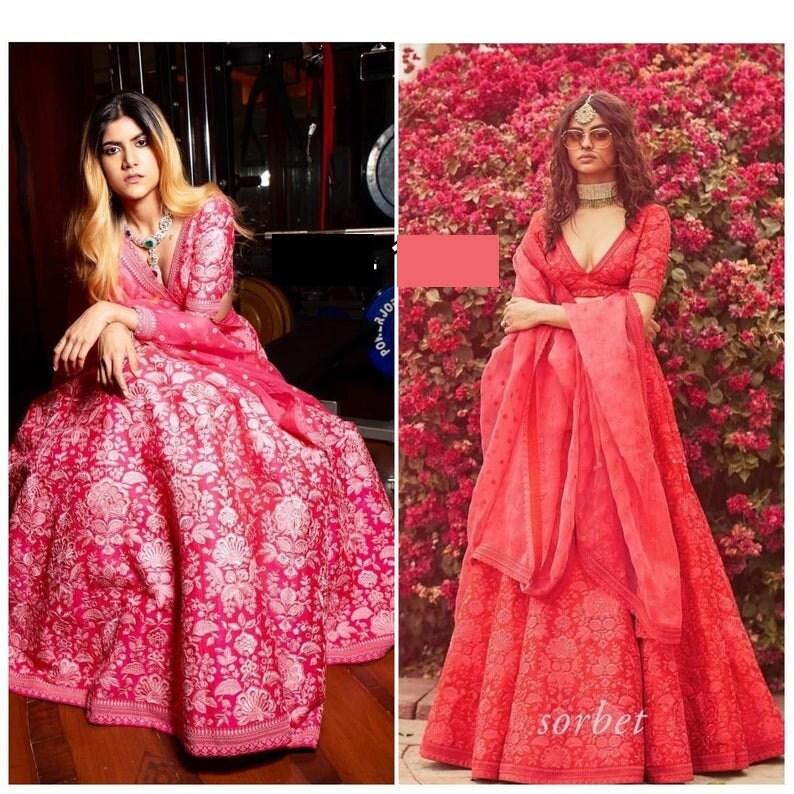 Tapetta Silk embroidery lehenga choli heavy embroidery ghagra choli designer lehenga choli summer wedding indian women lehenga