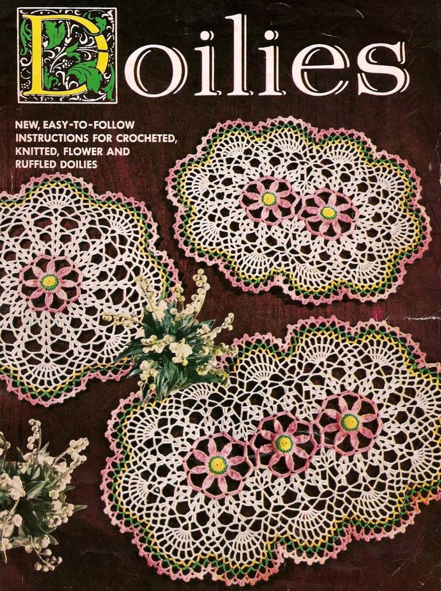 VINTAGE Rose Wreath Doily//CROCHET PATTERN INSTRUCTIONS