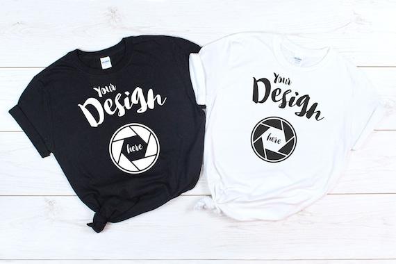 Gildan 64000 T Shirt Mockup Bundle Unisex T Shirt 29 Colors On White Wood Background Clean Simple Background Men/'s Mockup Set Printful